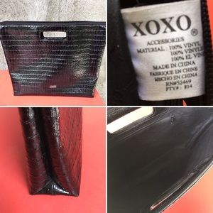 XOXO Bags - XOXO patent leather handbag. Handles incorporated