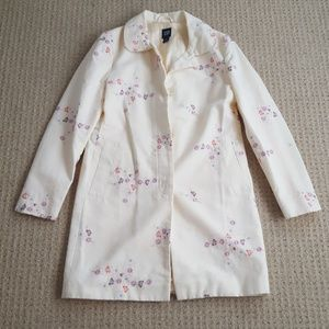 Gap floral trench coat