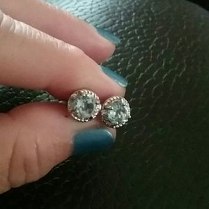 Jewelry - Victoria Townsrnd blue topaz/diamond earrings