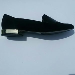 bf5a48d6589 Aldo Shoes - ALDO Loafers Oxfords Gold Metallic Block Heel 10