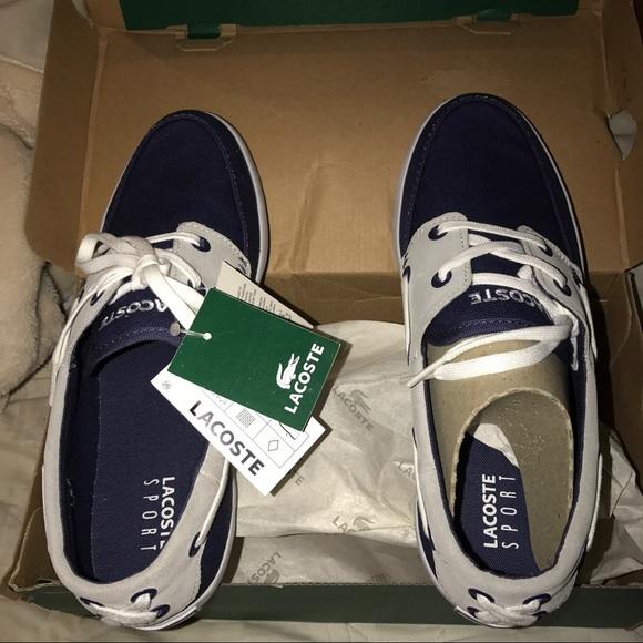 8e5f8d316 Lacoste Dark blue light blue shoe
