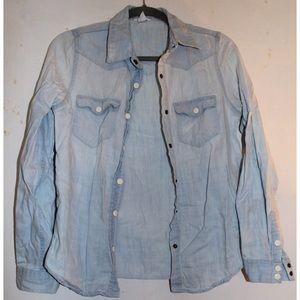 Tops - Light wash denim shirt