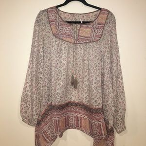 Free People floral peasant top size small