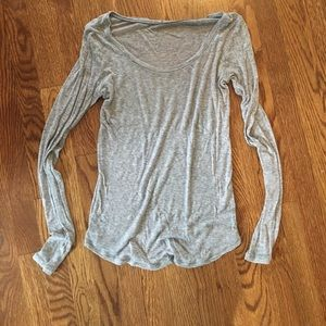 Tops - Sheer slim scoopneck tee