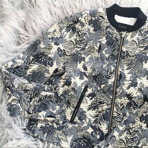 Floral Bomber Jacket Zara XS