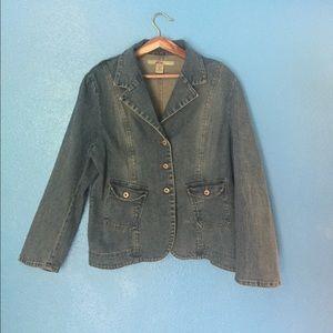 moe clothing Jackets & Blazers - Moe 1X Jean blazer
