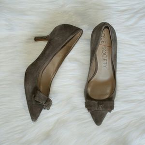 Sole Society Shoes - Sole Society Grey Suede Pointed Shoes