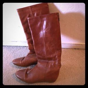 Brwn Loeffler Randall Penelope Flat boots sz 7