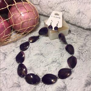 Jewelry - NWT Purple Spirals Necklace
