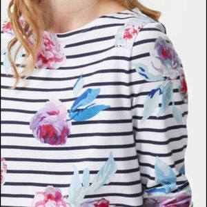 Joules Tops - Floral Stripe Joules Top
