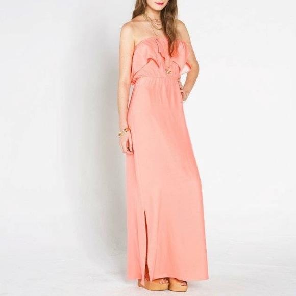 7377914404f8 Amanda Uprichard Dresses | Nwt Coral Pink Silk Maxi Dressgown Xs ...
