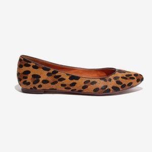 Madewell leopard print sidewalk skimmer