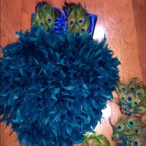 dolls kill Other - Burlesque Peacock Corset with Bustle S/M