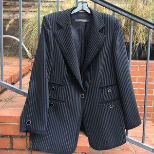 Marina Rinaldi Jackets & Blazers - Marina Rinaldi navy pinstripe blazer