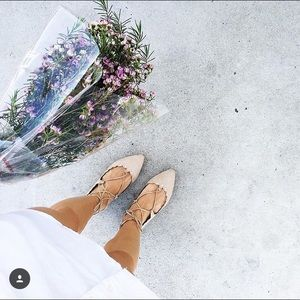 Lovely lace-up flats