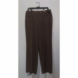 LOFT Dark Brown Marisa Dress Pants