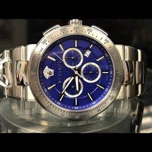 Versace Mystique chronograph steel men's watch.