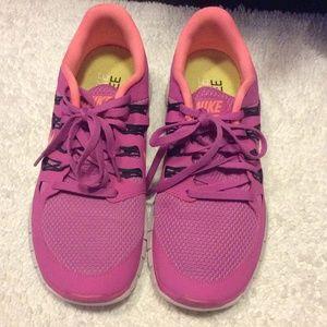 Pink Nike free 5.0 sneakers