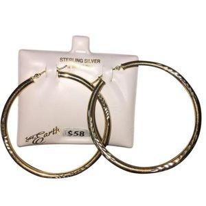 Love Earth Jewelry - 925 Sterling Silver & 10k Gold Hoop Earrings