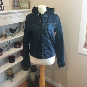 Hudson Jeans Jackets & Blazers - Hudson Jean jacket lined with black sweatshirt!