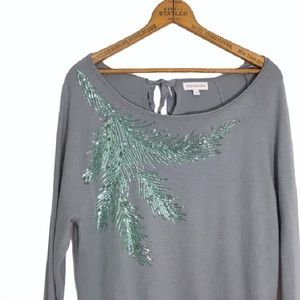 Monsoon Sweaters - MONSOON Sequin branch tie neck sweater