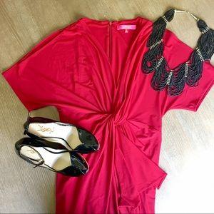 Catherine Malandrino Dresses & Skirts - Catherine Malandrino Emily Red Cold Shoulder Dress