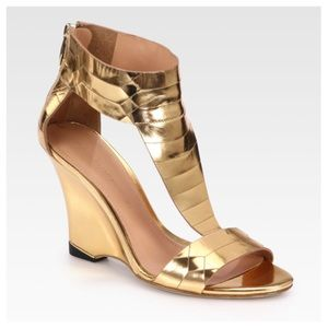 Sigerson Morrison Shoes - Sigerson Morrison Ruby metallic leather wedge