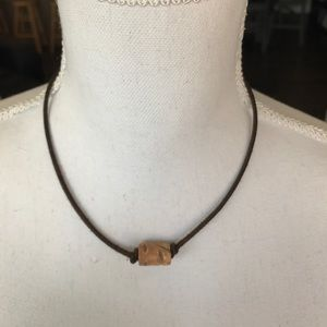 Wilsons Leather Jewelry - Leather Bead Choker - real leather!