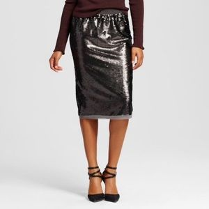 Who What Wear Sequin Pencil Skirt