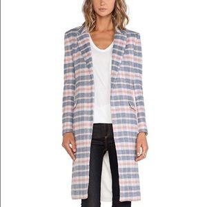 Asilio Jackets & Blazers - Asilio Pink Plaid & Ivory Over the Love Coat
