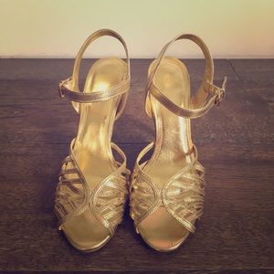 H&M Gold Strappy Sandals