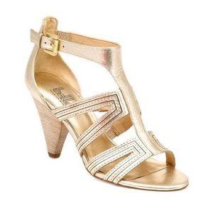 Belle by Sigerson Morrison Shoes - Belle by Sigerson Morrison 'Cole' Gold Heels