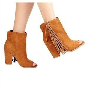 DV by Dolce Vita Shoes - DV peep toe fringe bootie