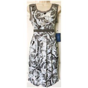 SALE! Simply Vera Modern Floral Dress, Gray/White