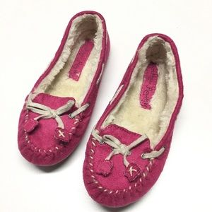 Cynthia Rowley Other - Pink Suede Mocs Sz 11