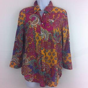 Lauren Ralph Lauren Tops - Beautiful paisley blouse by Ralph Lauren.
