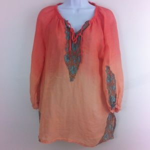 Elegant ombré' orange top by Chico's
