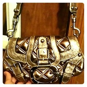 Guess quilted metallic shoulder bag