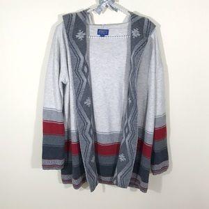 Pendleton Sweaters - Pendleton Aztec Tribal Hooded Cardigan