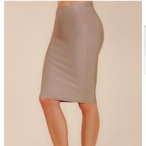WOW couture Dresses & Skirts - Wow Couture Luxe Pencil Skirt in Almond