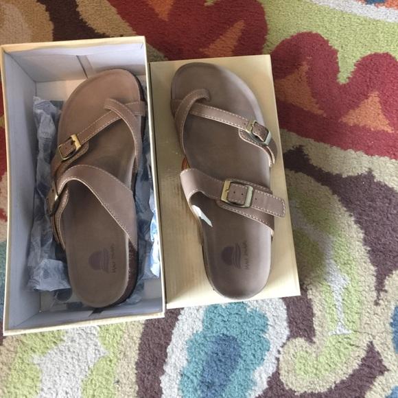 b425d315c3978 Maui Island footbed sandals Taupe or Light Brown. M 5939b4d5a88e7d79f40159c7