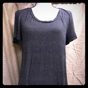 Maurices black and white tunic tshirt