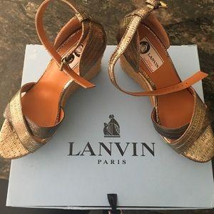 Lanvin Shoes - Lanvin Espadrille Wedge Sandal