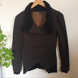 Brown & Black Button Down Blazer