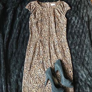 Leopard short sleeve dress