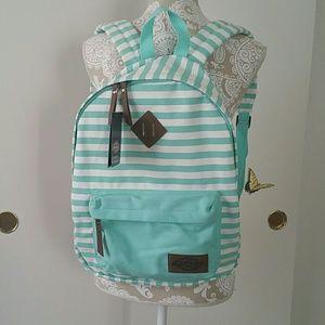 Dickies Handbags - Dickies Cotton Canvas Classic Backpack, greenwhite