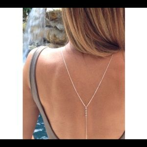 Jewelry - Crystal necklace body chain