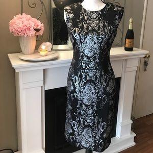 Dresses & Skirts - Black and silver sheath dress