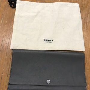 Shinola Handbags - Shinola leather accordion clutch