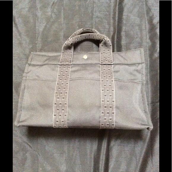 d00786a96a6c Hermes Handbags - HERMES Fourre Tout PM H line Canvas gray Tote bag